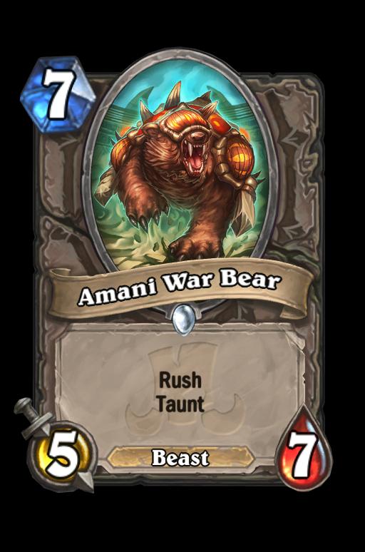 Amani War Bear Hearthstone kártya