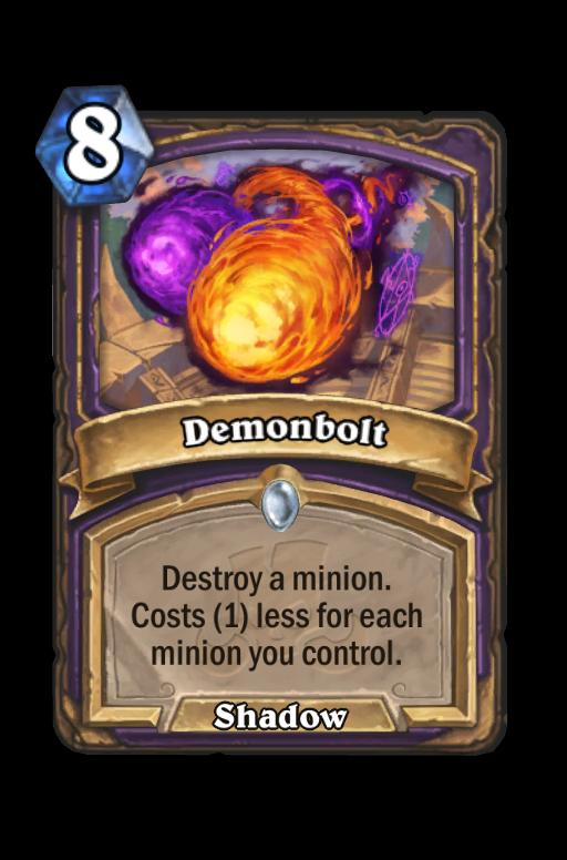 Demonbolt Hearthstone kártya