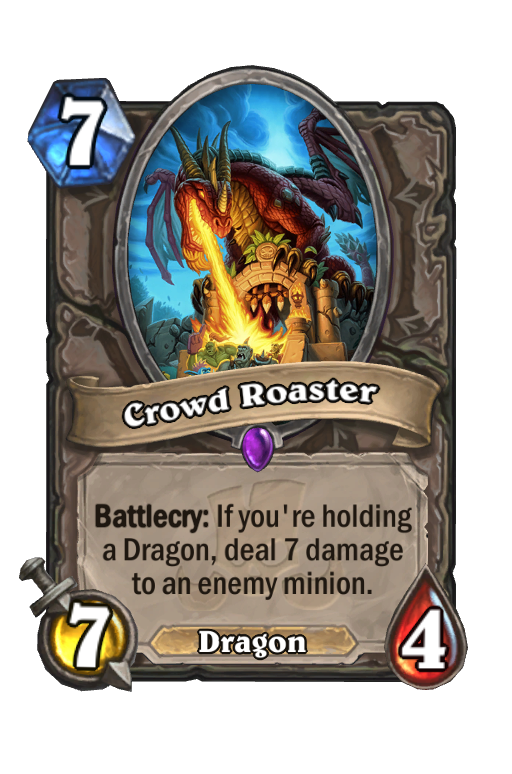 Crowd Roaster Hearthstone kártya