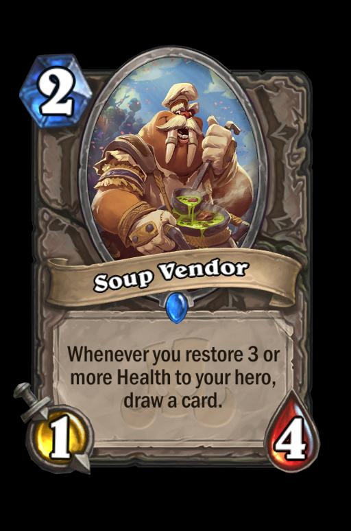 Soup Vendor Hearthstone kártya