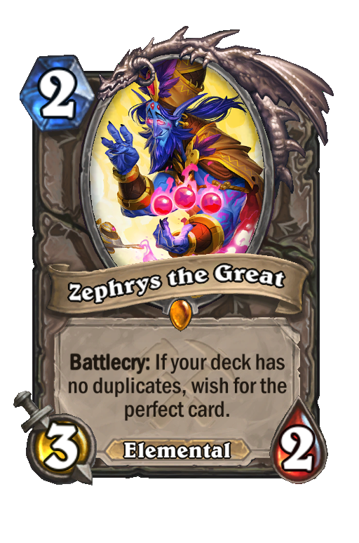 Zephrys the Great Hearthstone kártya