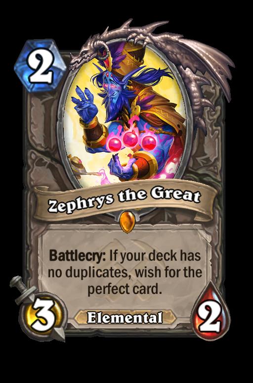 Zephrys the Great Hearthstone kártya