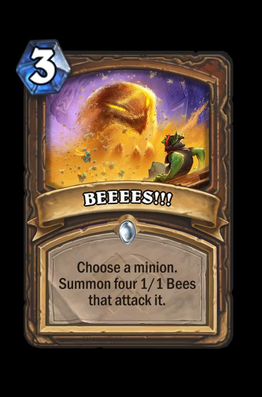 BEEEES!!! Hearthstone kártya