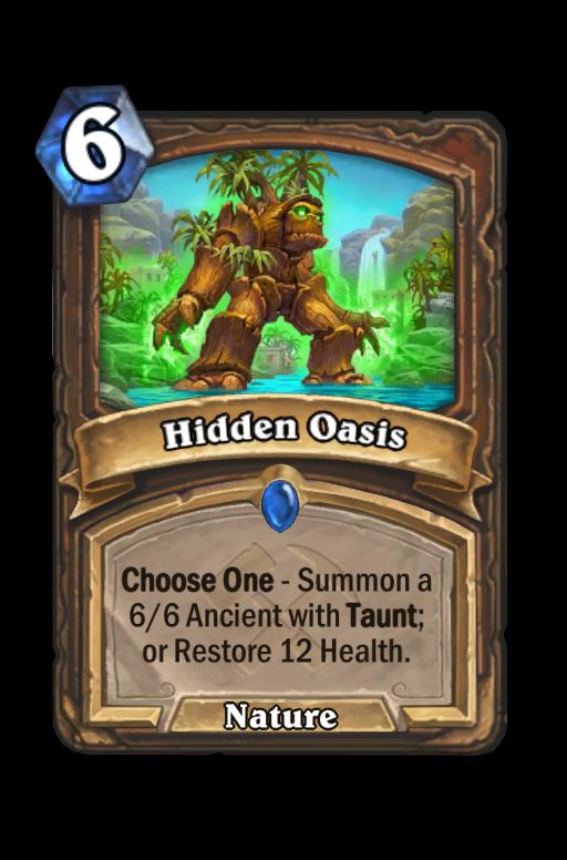 Hidden Oasis Hearthstone kártya