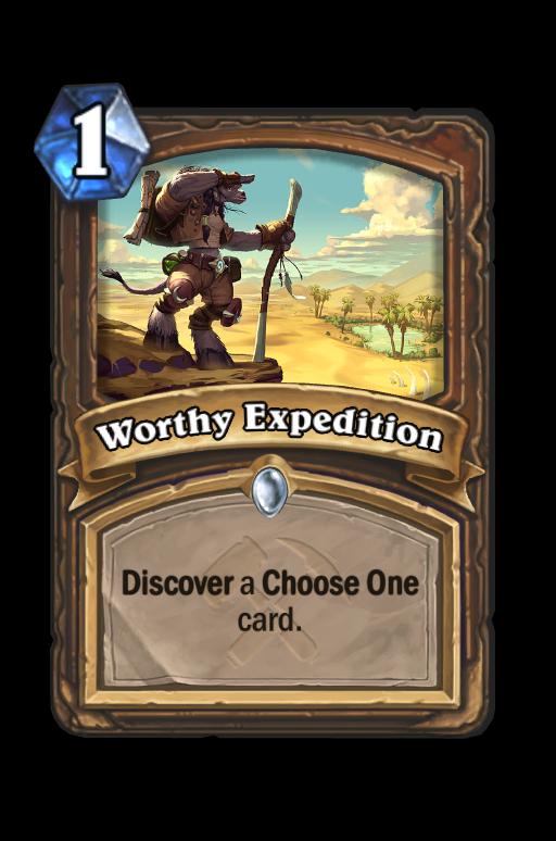 Worthy Expedition Hearthstone kártya