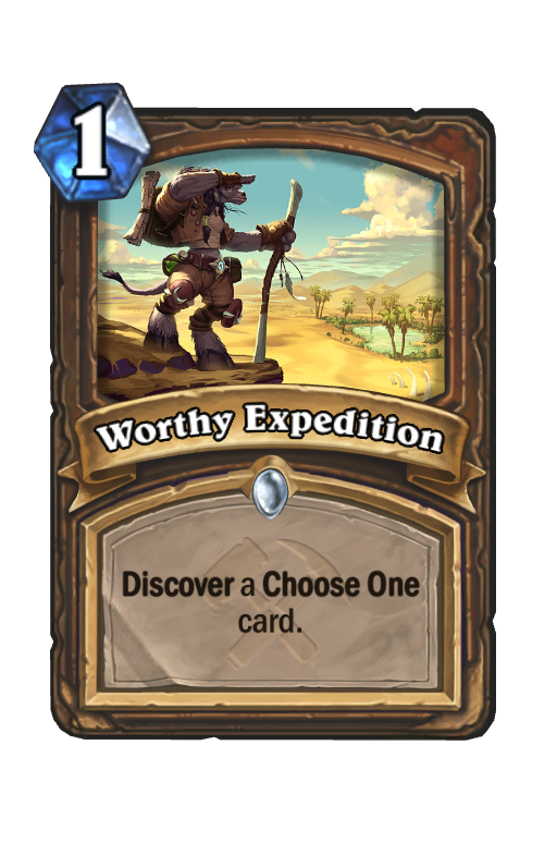 Worthy Expedition Hearthstone kártya