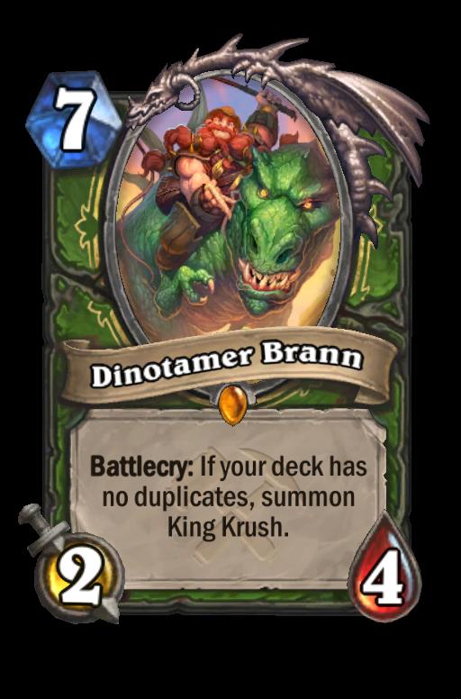 Dinotamer Brann Hearthstone kártya