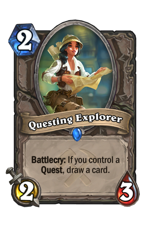 Questing Explorer Hearthstone kártya