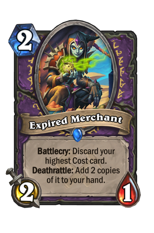 Expired Merchant Hearthstone kártya