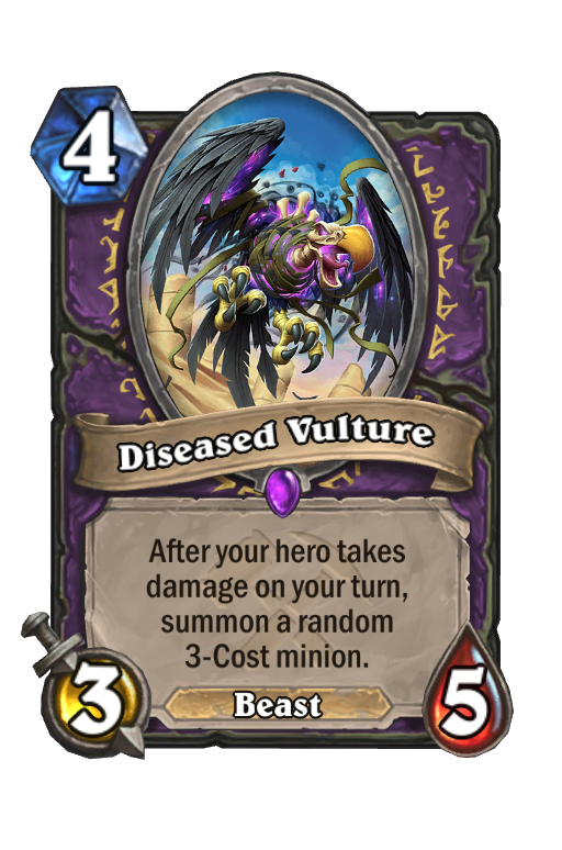 Diseased Vulture Hearthstone kártya