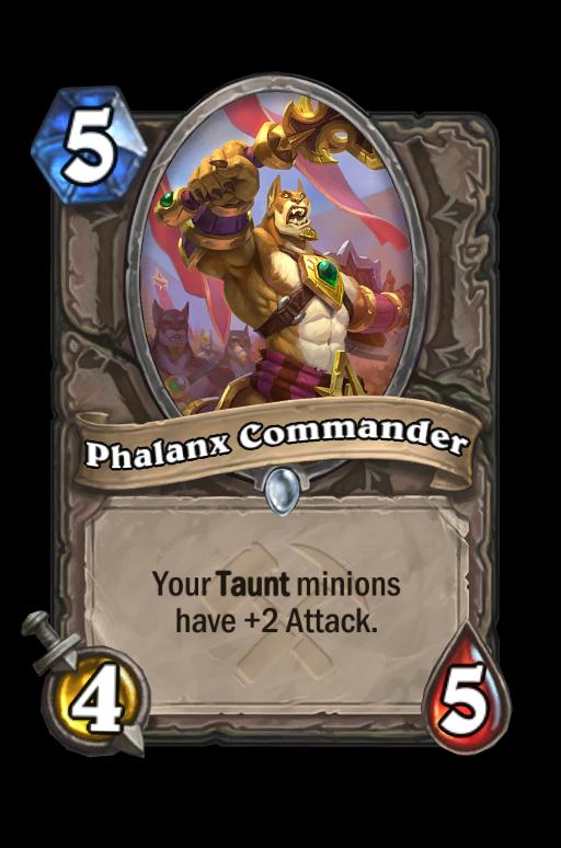 Phalanx Commander Hearthstone kártya
