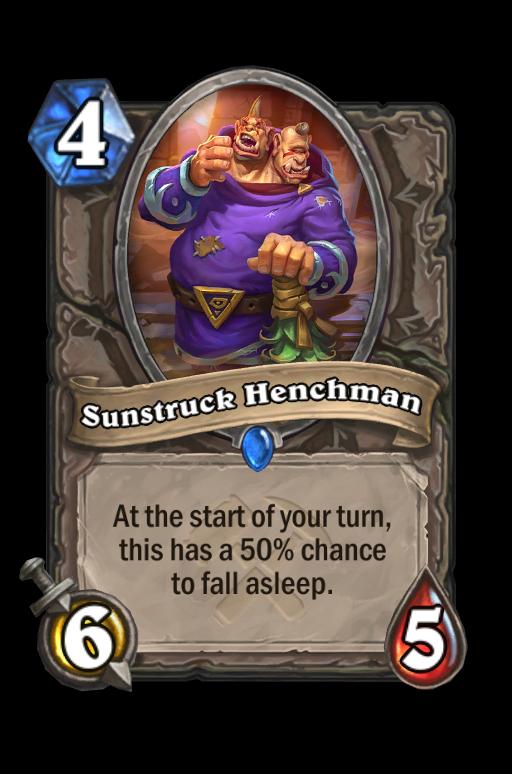 Sunstruck Henchman Hearthstone kártya