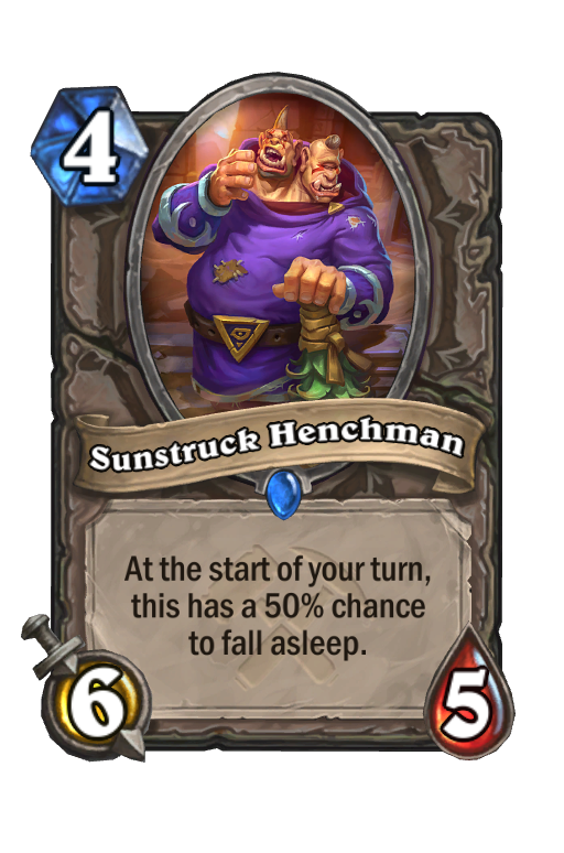 Sunstruck Henchman Hearthstone kártya