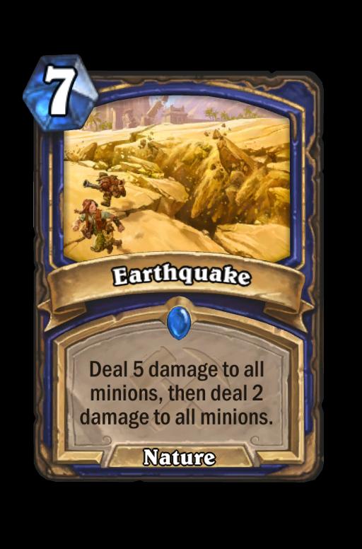 Earthquake Hearthstone kártya