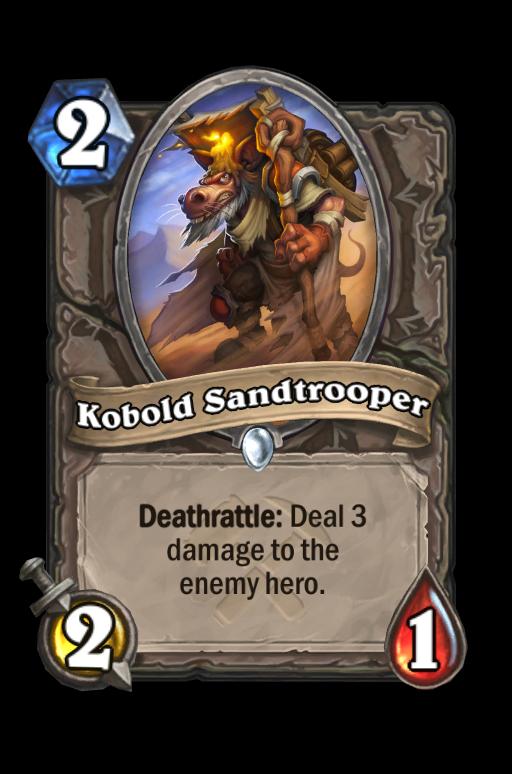 Kobold Sandtrooper Hearthstone kártya