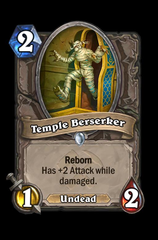 Temple Berserker Hearthstone kártya