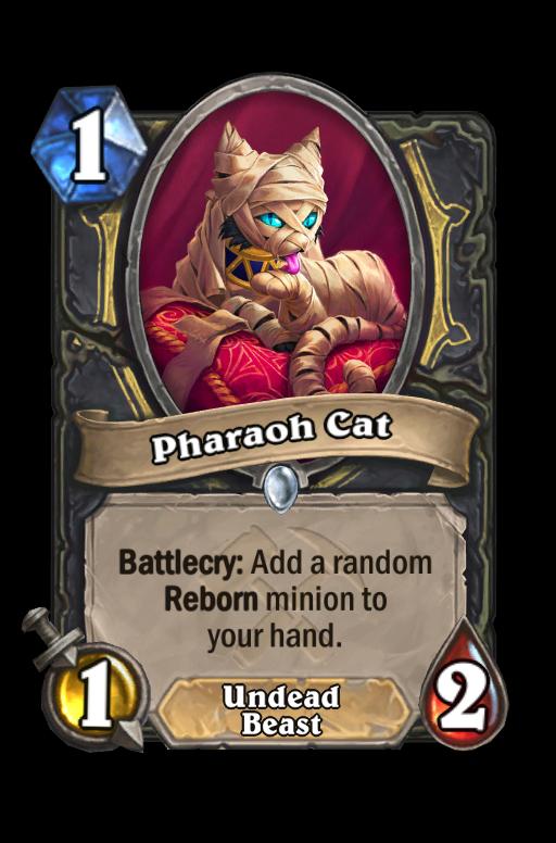 Pharaoh Cat Hearthstone kártya