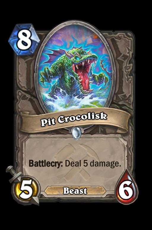 Pit Crocolisk Hearthstone kártya