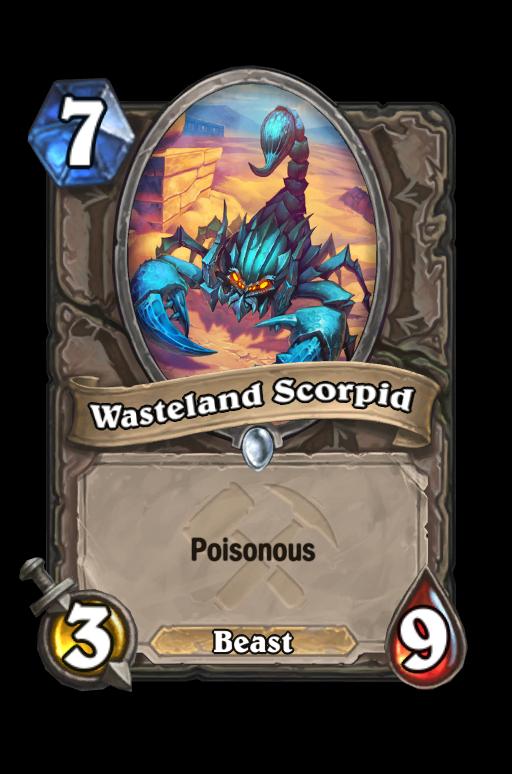Wasteland Scorpid Hearthstone kártya