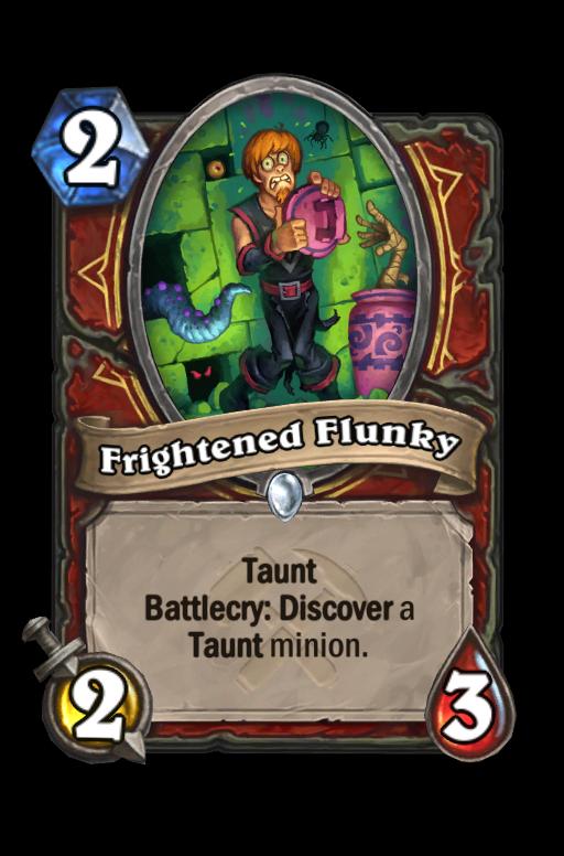 Frightened Flunky Hearthstone kártya