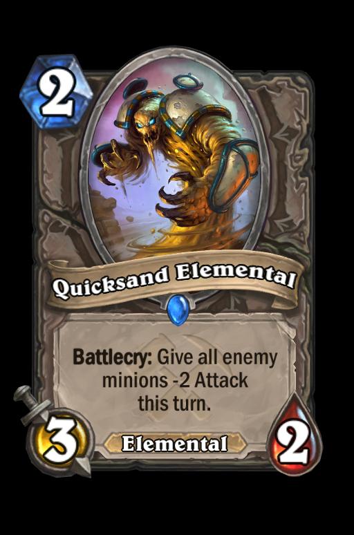 Quicksand Elemental Hearthstone kártya