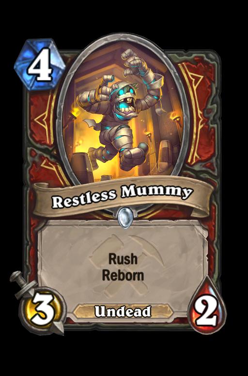 Restless Mummy Hearthstone kártya