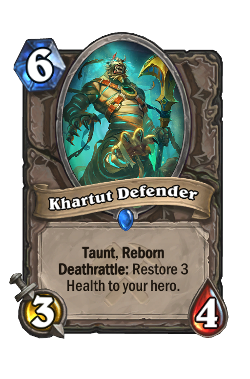 Khartut Defender Hearthstone kártya
