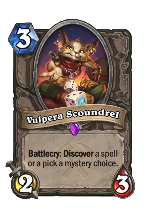 Vulpera Scoundrel Hearthstone kártya