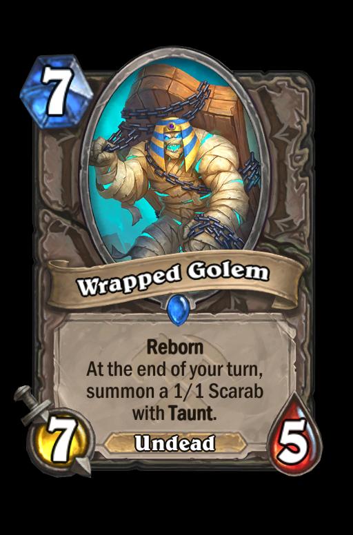 Wrapped Golem Hearthstone kártya