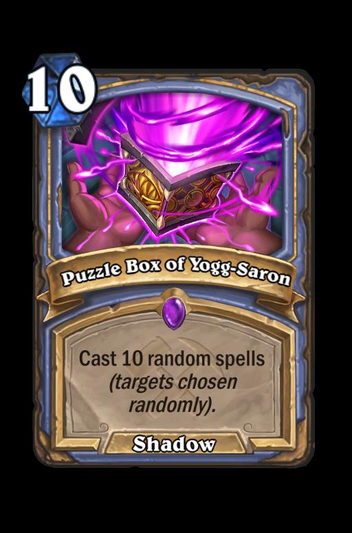Puzzle Box of Yogg-Saron Hearthstone kártya