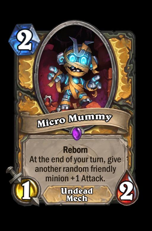 Micro Mummy Hearthstone kártya