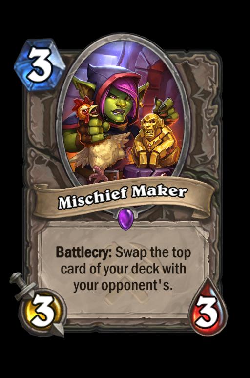 Mischief Maker Hearthstone kártya