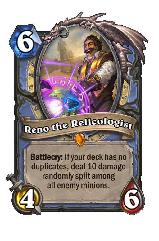 Reno the Relicologist Hearthstone kártya