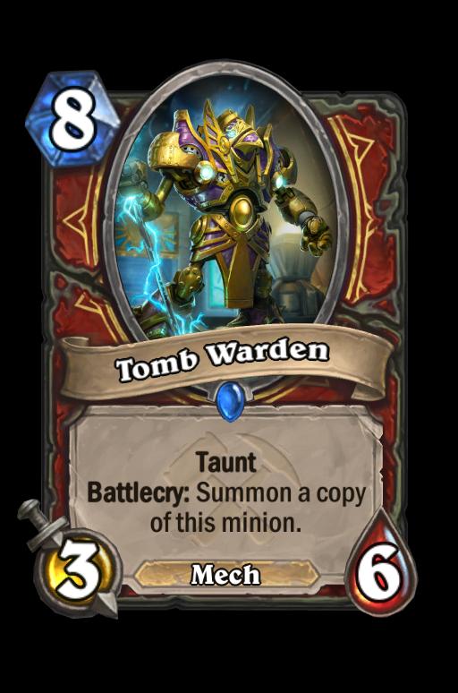 Tomb Warden Hearthstone kártya