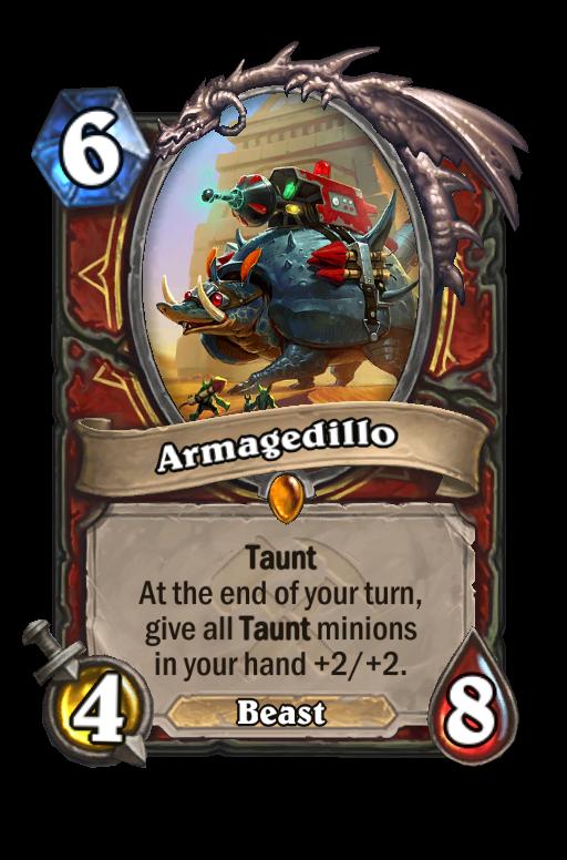 Armagedillo Hearthstone kártya