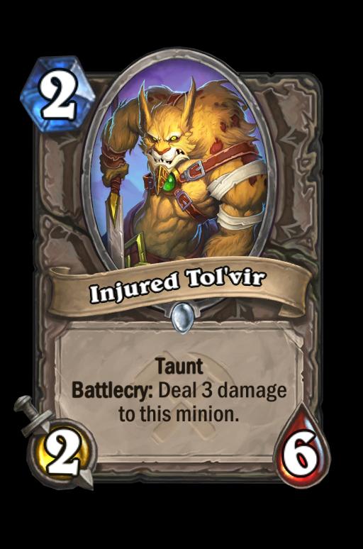 Injured Tol'vir Hearthstone kártya