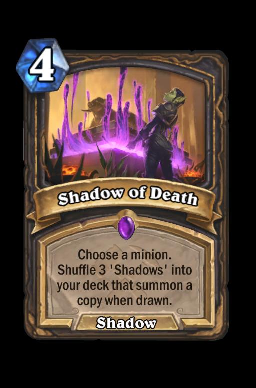 Shadow of Death Hearthstone kártya