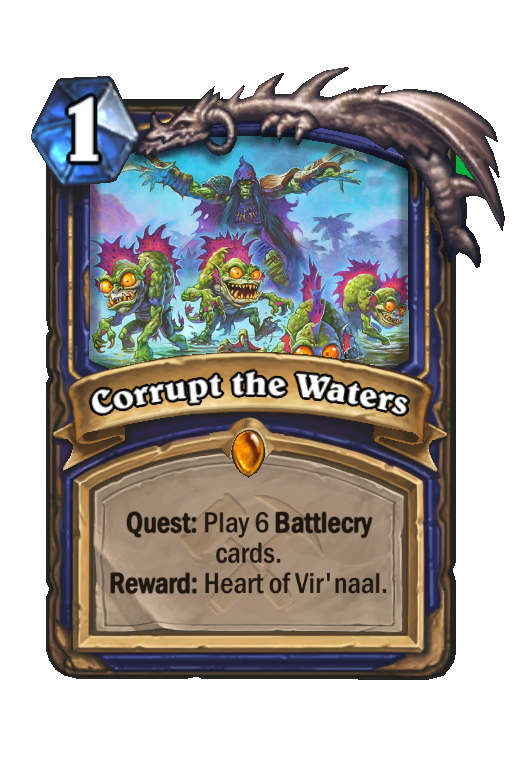 Corrupt the Waters Hearthstone kártya
