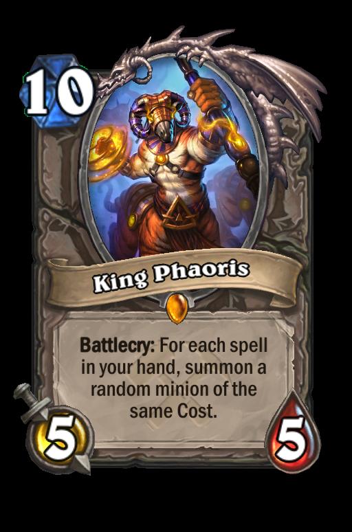 King Phaoris Hearthstone kártya