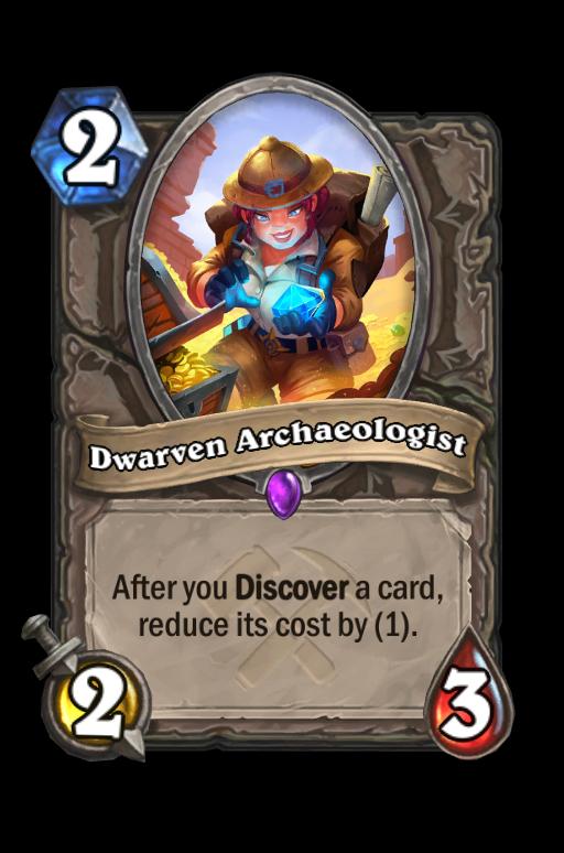 Dwarven Archaeologist Hearthstone kártya