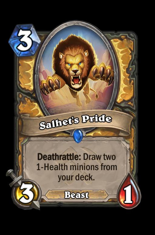 Salhet's Pride Hearthstone kártya
