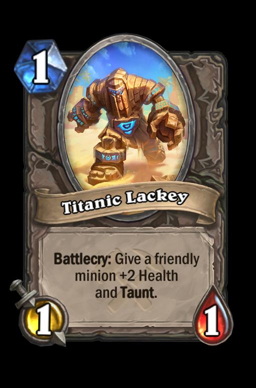 Titanic Lackey Hearthstone kártya