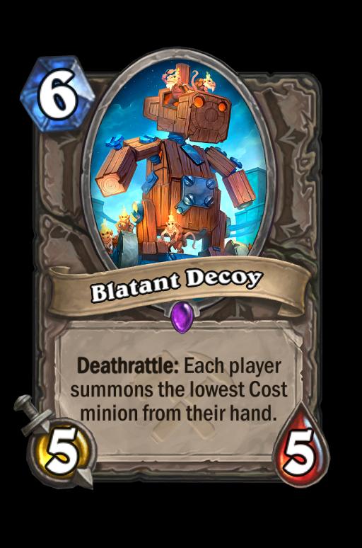 Blatant Decoy Hearthstone kártya