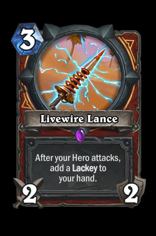 Livewire Lance Hearthstone kártya