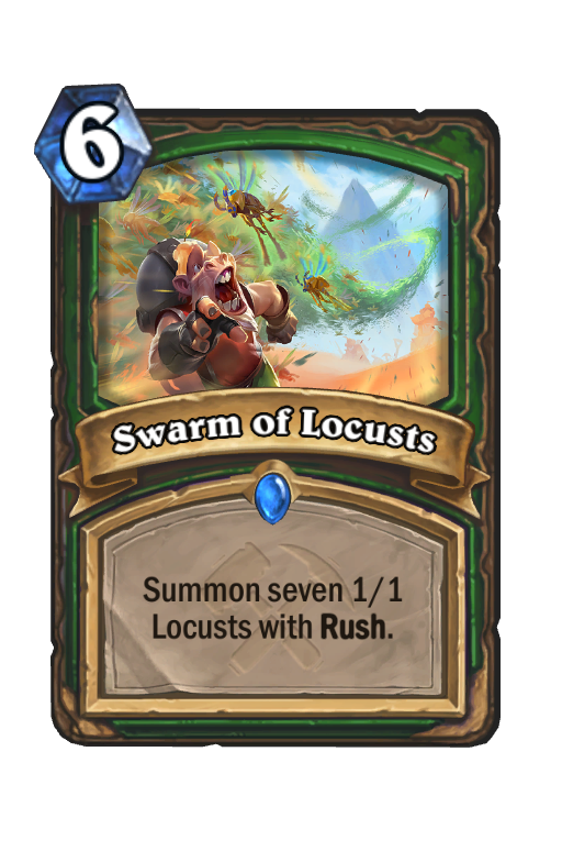 Swarm of Locusts Hearthstone kártya