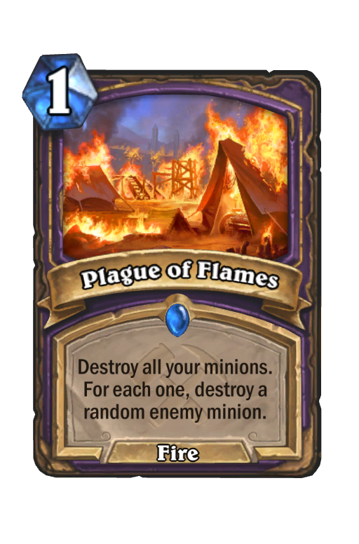 Plague of Flames Hearthstone kártya