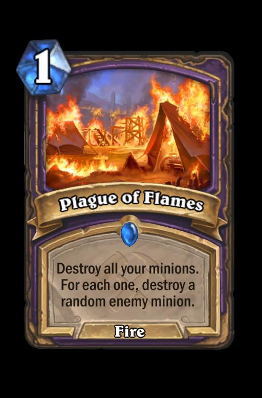 Plague of Flames Hearthstone kártya