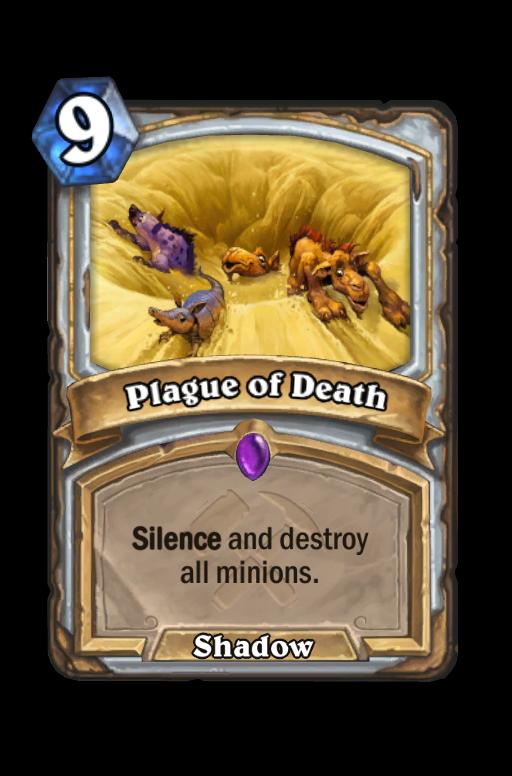 Plague of Death Hearthstone kártya