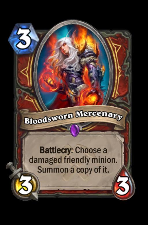 Bloodsworn Mercenary Hearthstone kártya