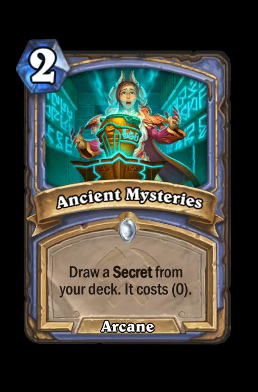 Ancient Mysteries Hearthstone kártya